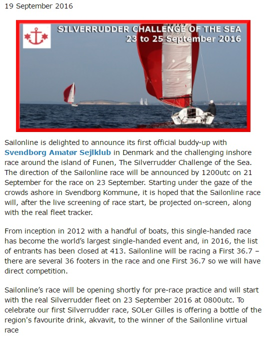 Silverrudder on Sailonline